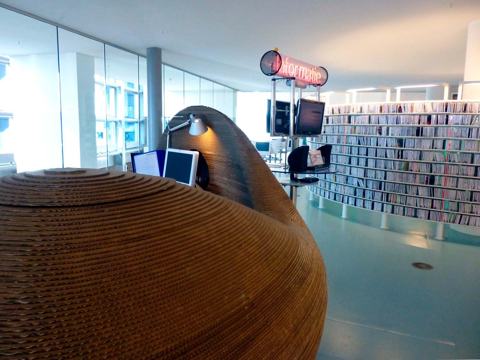 Amsterdam Library Cardboard Desk 3