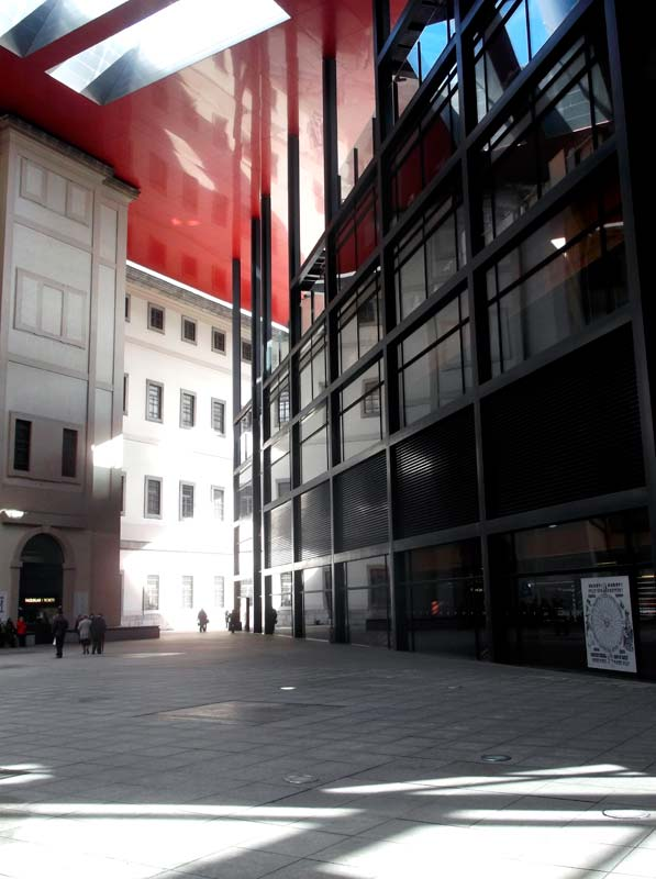 Reina Sofia Museum Madrid by Architect Jean Nouvel