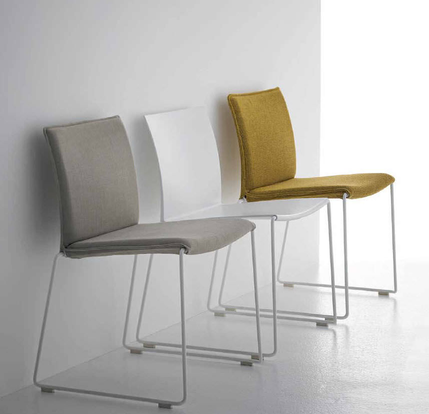 Graham Rivers Architects ~ M1 MDF Italia, Sled Base Stacking Chairs